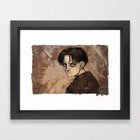 Coffee Painting - Levi Framed Art Print