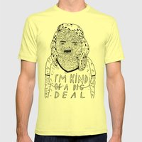BIG DEAL Mens Fitted Tee Lemon SMALL