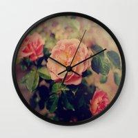 Flashback Roses  Wall Clock