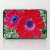Velvet Red Poppy Anemone I iPad Case