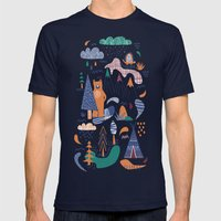 Bear camp Mens Fitted Tee Navy SMALL