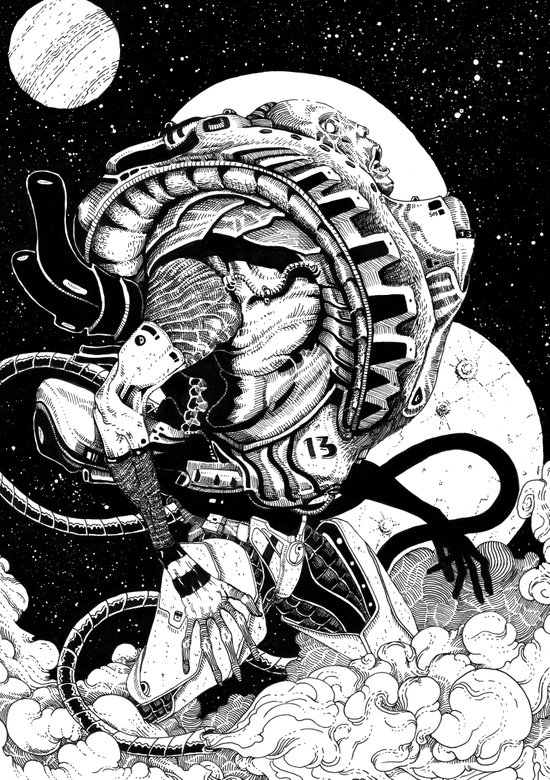 doomed astronaut Art Print