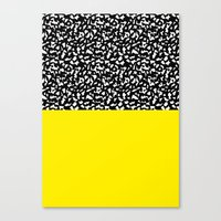Memphis Black and Yellow 80s Canvas Print