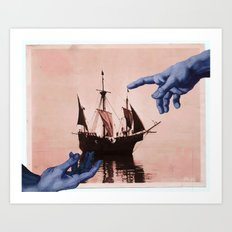 in god's hands Art Print