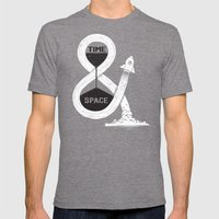 Time & Space Mens Fitted Tee Tri-Grey SMALL