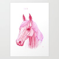 Year Of The Horse Art Print