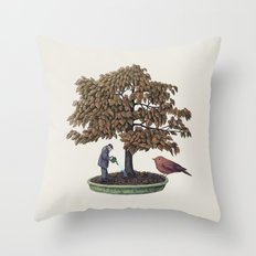 Enchanted Bonsai Throw Pillow