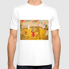 Forest Prom Mens Fitted Tee White SMALL