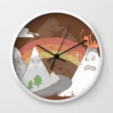 Volcano Fact Wall Clock