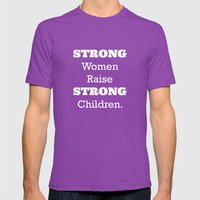 Strong Women - Pink.  Mens Fitted Tee Ultraviolet SMALL