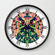 Psychedelic Owl Wall Clock