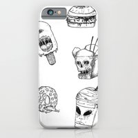 iPhone Cases featuring Monster Food by X V I I I