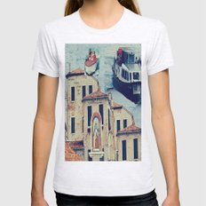 Maria, it's time to teenage riot Womens Fitted Tee Ash Grey SMALL