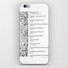 Words Words Words - William Shakespeare Quotations print iPhone & iPod Skin