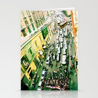 Protest In Naples Stationery Cards