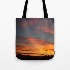 Rocky Mountain Silhouette Tote Bag