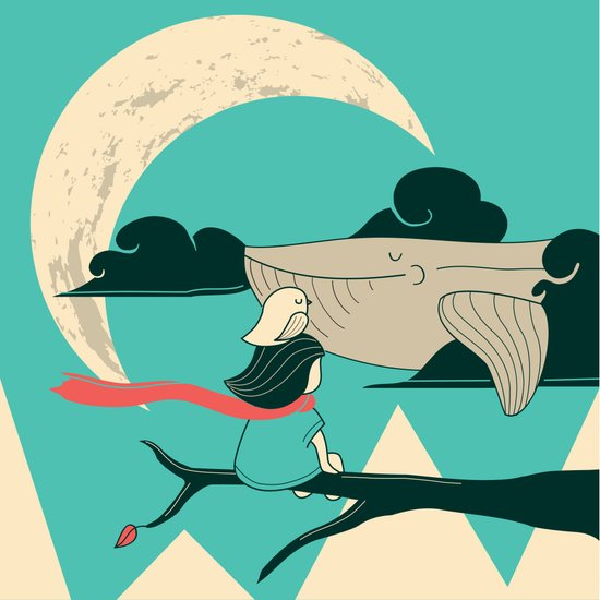 Did you see the whale in flight Art Print