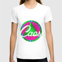 caos Womens Fitted Tee White SMALL