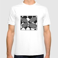 Checkmate Mens Fitted Tee White SMALL