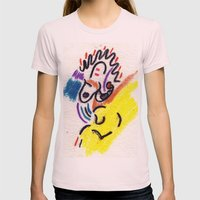 Abstract Womens Fitted Tee Light Pink SMALL