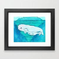 Belugas Framed Art Print