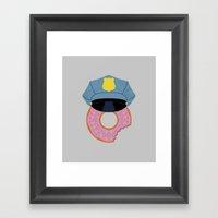 Officer Donut Framed Art Print