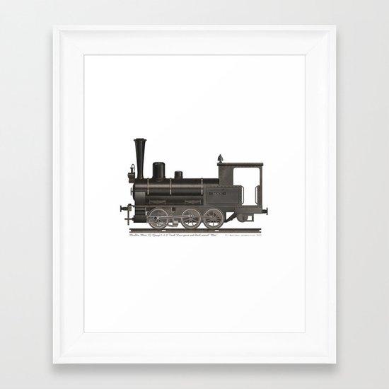 Locomotive Black Max Framed Art Print