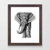 Navajo Elephant Framed Art Print
