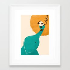 Panda's Little Helper Framed Art Print