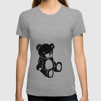 Bear Womens Fitted Tee Tri-Grey SMALL
