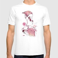 Hoploid Heron Mens Fitted Tee White SMALL