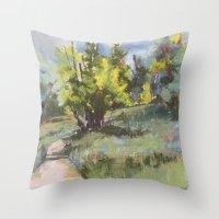 June in Colorado Throw Pillow