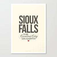 Sioux Falls Poster Canvas Print