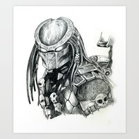Predator. Art Print