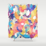 Shower Curtain featuring Chaotic Construction by Tracie Andrews