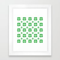 Lucky Flower Framed Art Print