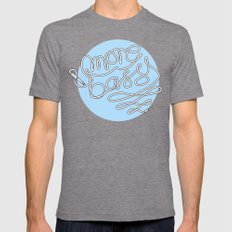 More Bass Mens Fitted Tee Tri-Grey SMALL
