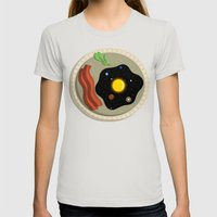 Sunny Side Up Womens Fitted Tee Silver SMALL