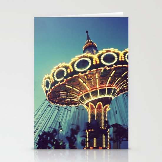 Blue Hour at the Carnival Stationery Card