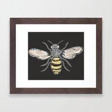Beneficial Bumblebees Framed Art Print
