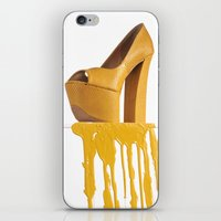 Dripping Yellow Shoe iPhone & iPod Skin