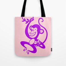Purple Monkey Tote Bag