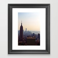 The Empire State Framed Art Print