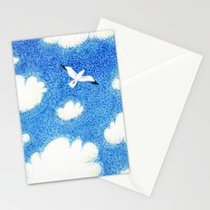 Seagull in the sky Stationery Cards