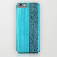 iPhone & iPod Case featuring Light Blue Background by Sarah J Bierman