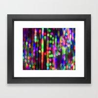 Neon Lights Framed Art Print