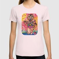 The Devil Caught With His Cake Womens Fitted Tee Light Pink SMALL