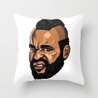 MR T. Throw Pillow