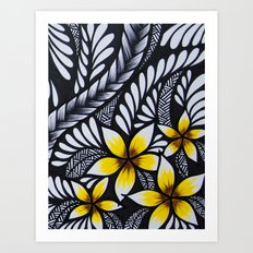 Mini Plumeria Art Print