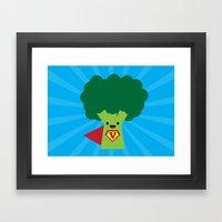 Super Broccoli Framed Art Print